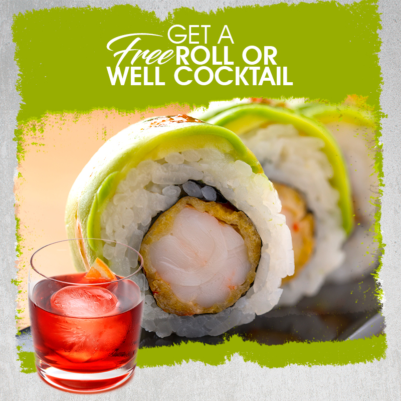 We've got a free roll or well cocktail waiting for you at our Miracle Mile location. 😍 Click on the link and either one's yours: . #Foodie #Sushi #Miami