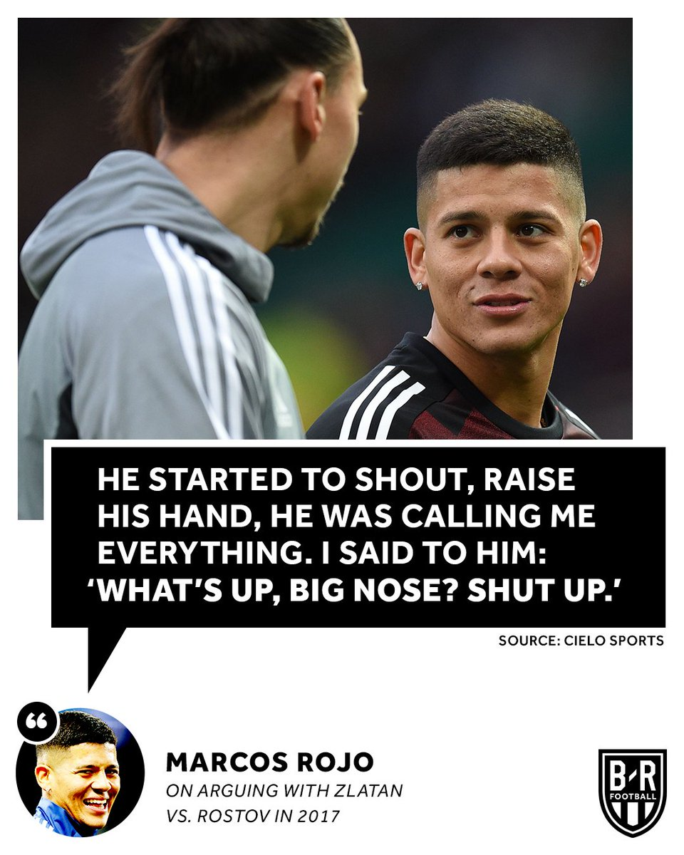 Marcos Rojo and Zlatan Ibrahimovic had a fight at half-time in a Europa League game back in 2017 🤣 https://t.co/zwKI1dDA4Z