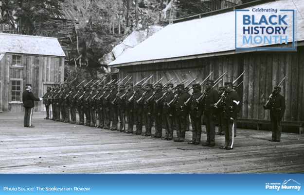 In 1899, one of the Army's four Black regiments, known as the Buffalo Soldiers, became the resident garrison at Vancouver Barracks—the first to serve in this role. #BlackHistoryMonth