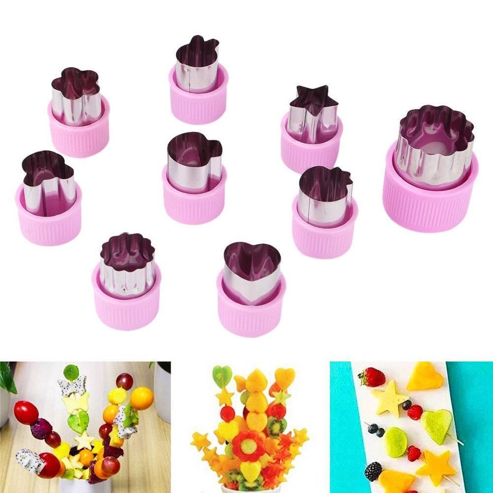 #food #KitchenAid Food Decor Cute Shaper Durable Kitchen Tool Cutter Mold 9Pcs/set Cake Cutting Vegetable Fruit DIY Cutting Cutter Set