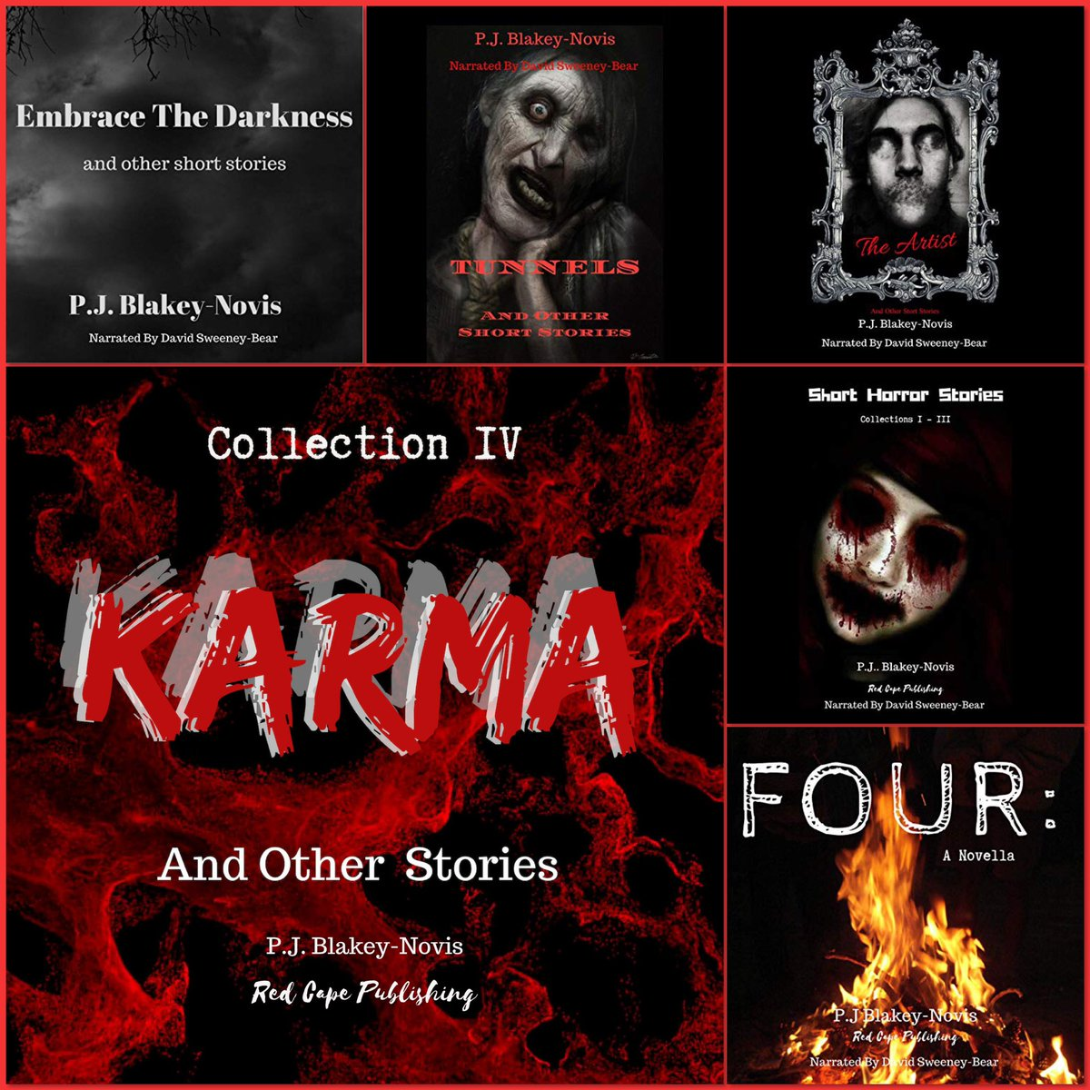 'Karma & Other Stories' is the latest release from @RedCapePublish now available on #Audible   You can find Karma & other Audible books from @pjbn_author here  UK  https://www. audible.co.uk/pd/The-Artist- Other-Stories-Collection-III-Audiobook/B07T9GKJL7  …   US  https://www. audible.com/pd/The-Artist- Other-Stories-Collection-III-Audiobook/B07TDN9GXG  …   #SpreadtheHorror #ShareTheHorror #promotehorror #NonProfitHorror<br>http://pic.twitter.com/kAbERds9rK