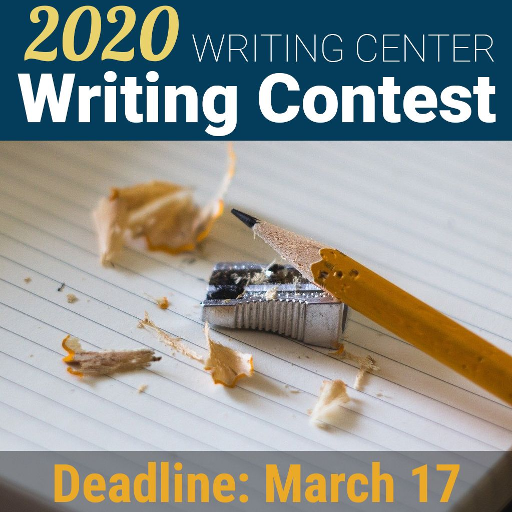 Every year the Writing Center sponsors a writing contest for DCC students. Deadline for submissions is March 17. Visit https://buff.ly/323lt0I, stop by the Writing Center in Hudson 503, or call  (845) 431-8095 for more info.