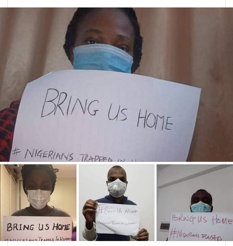 #CoronaVirus update: Nigerians  in Wuhan China Cry for help from the Nigeria  government....Bring Us Home ..  From Wuhan  China <br>http://pic.twitter.com/goqudeMsre