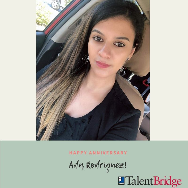 Celebrating four years of having Ada Rodriguez as a part of our Goodwill TalentBridge team! Thank you for everything you do, Ada!   #fouryears #anniversary #weappreciateyou #thankyou #celebrating #kudos