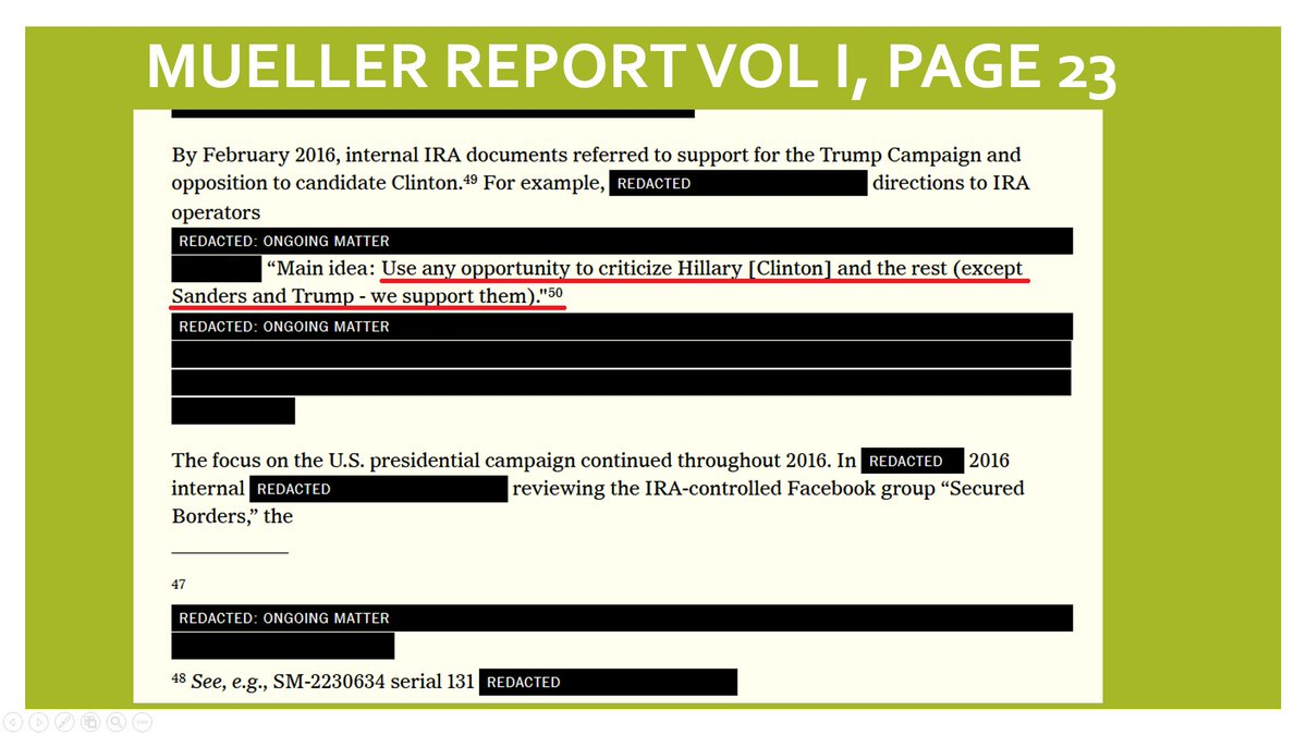 @CheriJacobus @businessinsider And for those who forgot what the Mueller Report detailed ...