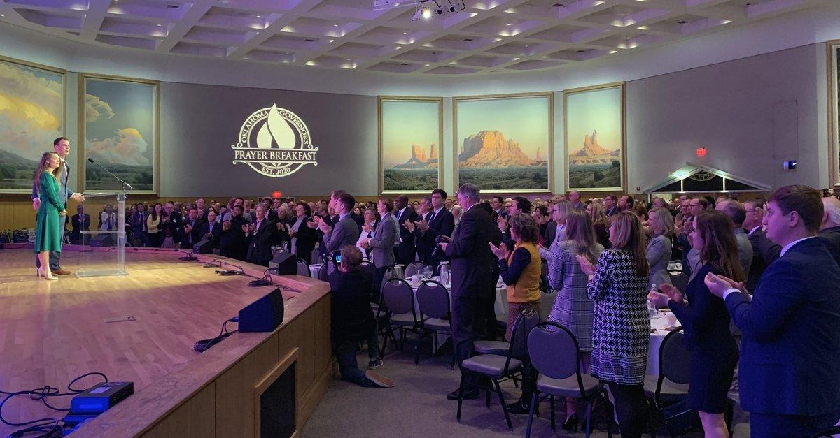 Power of prayer … what can it do for Oklahoma?  It can transform our future. It can inspire leadership. It can teardown divisions and bring people together. Today, ORU joined @GovStitt in recognizing the power of prayer at the inaugural Oklahoma Governor's Prayer Breakfast. <br>http://pic.twitter.com/U6igtfNFcn