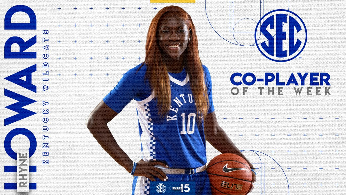 #SECWBB Co-Player of the Week: @howard_rhyne Details » bit.ly/2uVbcHJ