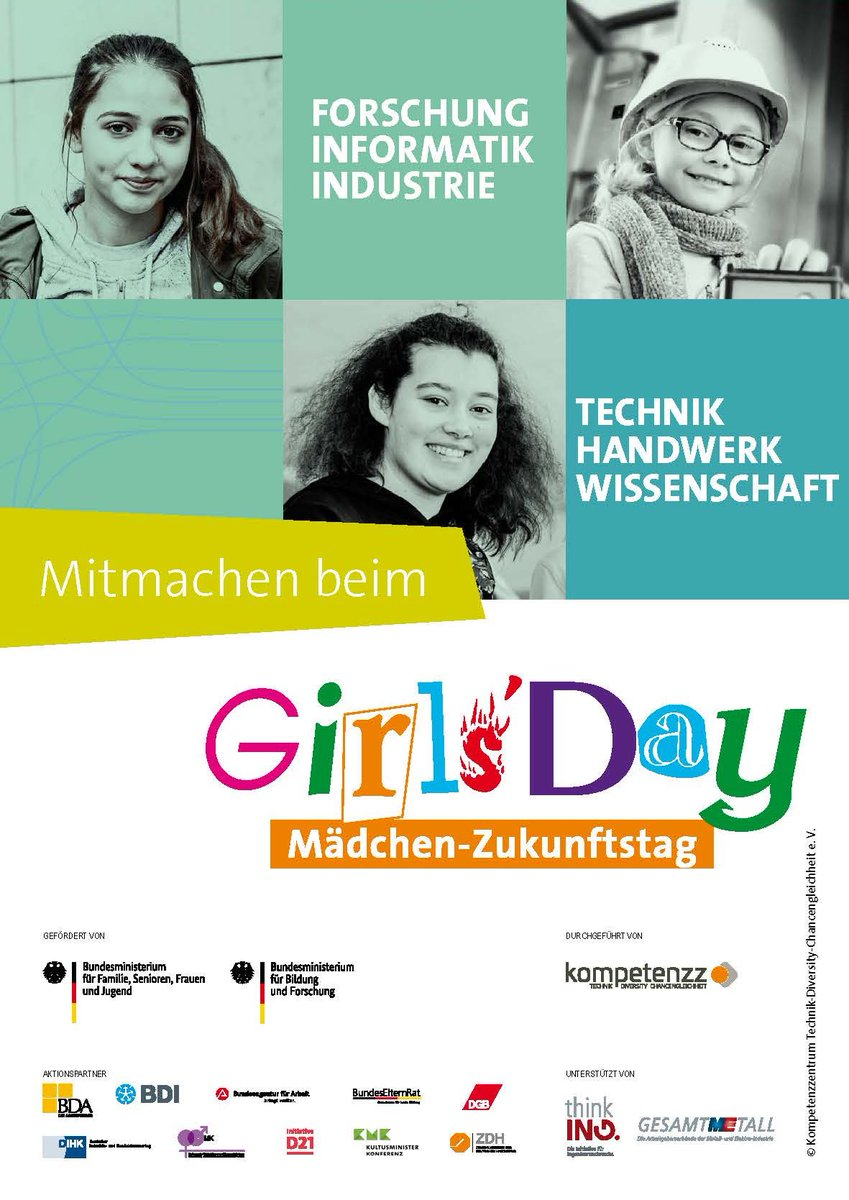 Nur noch etwa sechs Wochen bis zum Girls'Day 2020! Wer macht mit?  #ingkh #ingenieurkammer #hessen #ingenieure #wiesbaden #germanengineering #girlsday #girlsday2020 #MINT #mädchenandiemachtpic.twitter.com/ilw6Ll9GQd