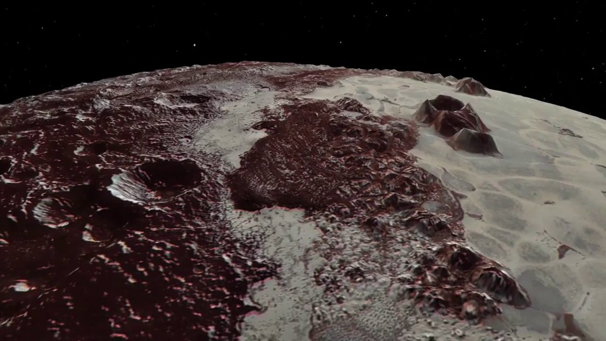 90 years ago today, astronomer Clyde Tombaugh discovered Pluto! Take a closer look at its highlands, plains and craters in this flyover view, created using data from @NASANewHorizons: youtu.be/g1fPhhTT2Oo