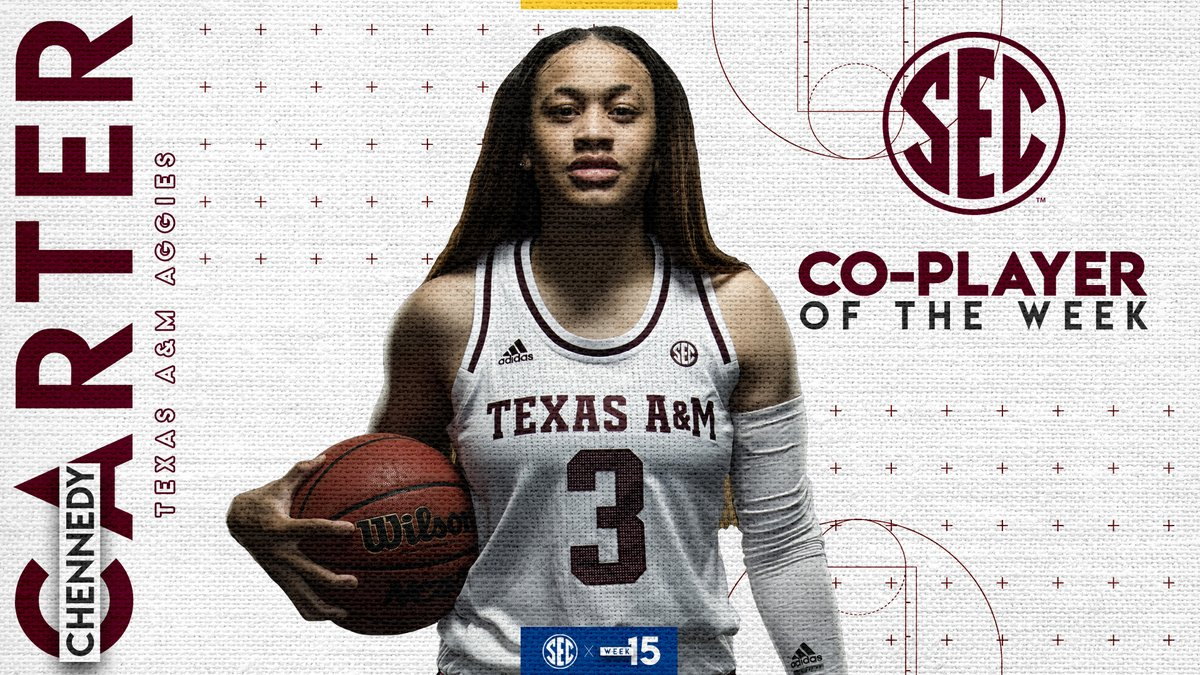 #SEC WBB Co-Player of the Week: @ChennedyCarter Details » bit.ly/2uVbcHJ