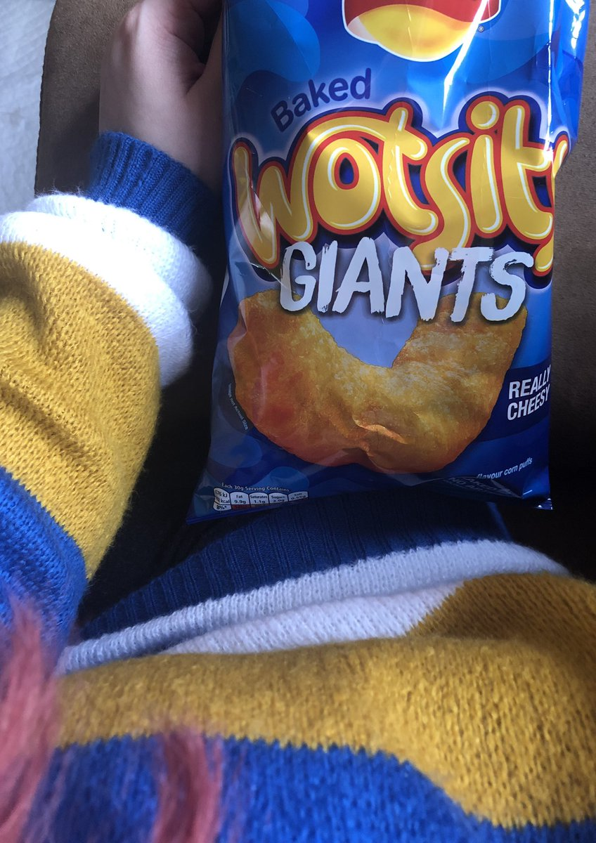 So these are a thing now, eh?  *Unintentionally matching with my jumper #MustBeWalkers #Walkers #Wotsits #WalkersCrisps #GiantWotsits #WotsitsGiant @walkers_crispspic.twitter.com/WCt4VgHUhh