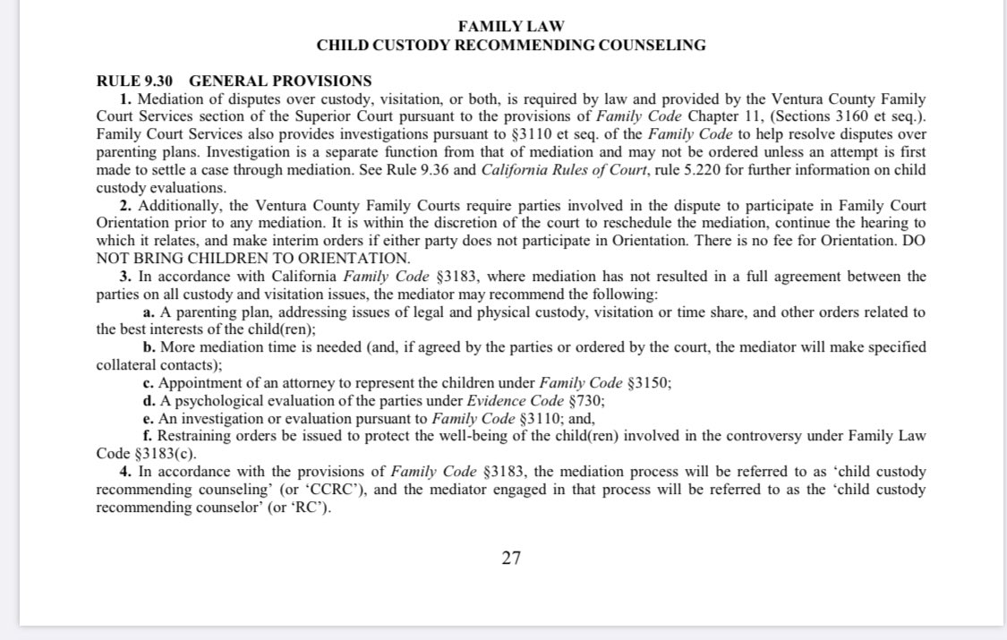 #VENTURA #COUNTY #FAMILY #LAW #CHILD #CUSTODY RECOMMENDING COUNSELING  Ventura Superior Court Local Rules Sections 9.30 through 9.35