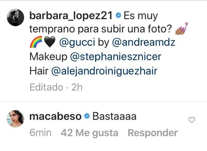 Que dice su Macababy que Basta con tanta belleza que la va a matar un día de estos #Juliantina #MacarenaAchaga  #BarbaraLopezpic.twitter.com/Ktp6pt3DE8