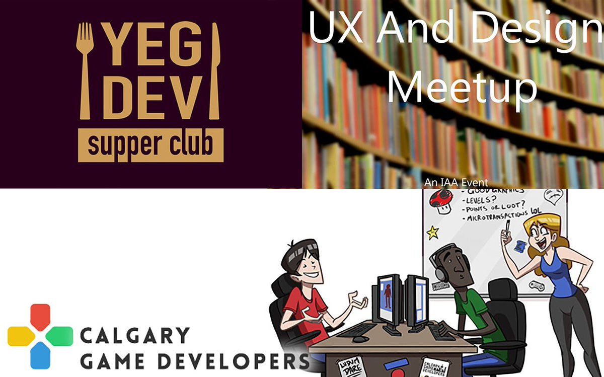 It's a short week but lots going on.Feb 19 - Yeg Dev Supper Clubhttps://www.eventbrite.ca/e/yegdev-supper-club-february-2020-edition-tickets-91911135681…Feb 20 - UX and Design Meetuphttps://www.eventbrite.ca/e/ux-and-design-meetup-tickets-91096067791…Feb 20 - Calgary Game Developers Meetuphttps://www.meetup.com/Calgary-Game-Developers/events/bgmqsqybcdbbc/…Find more upcoming events at http://albertamakesgames.com/events