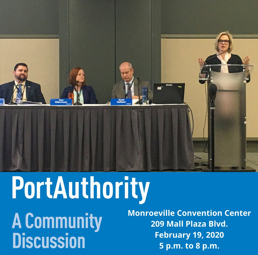 Our next public engagement meeting is TOMORROW, February 19 at the Monroeville Convention Center (209 Mall Plaza Blvd.) from 5-8 p.m. Join us for a discussion on BRT, long-range planning, bus stops, fares and more! More info at http://PortAuthority.org/GetTogetherpic.twitter.com/TRWYd1tfkd