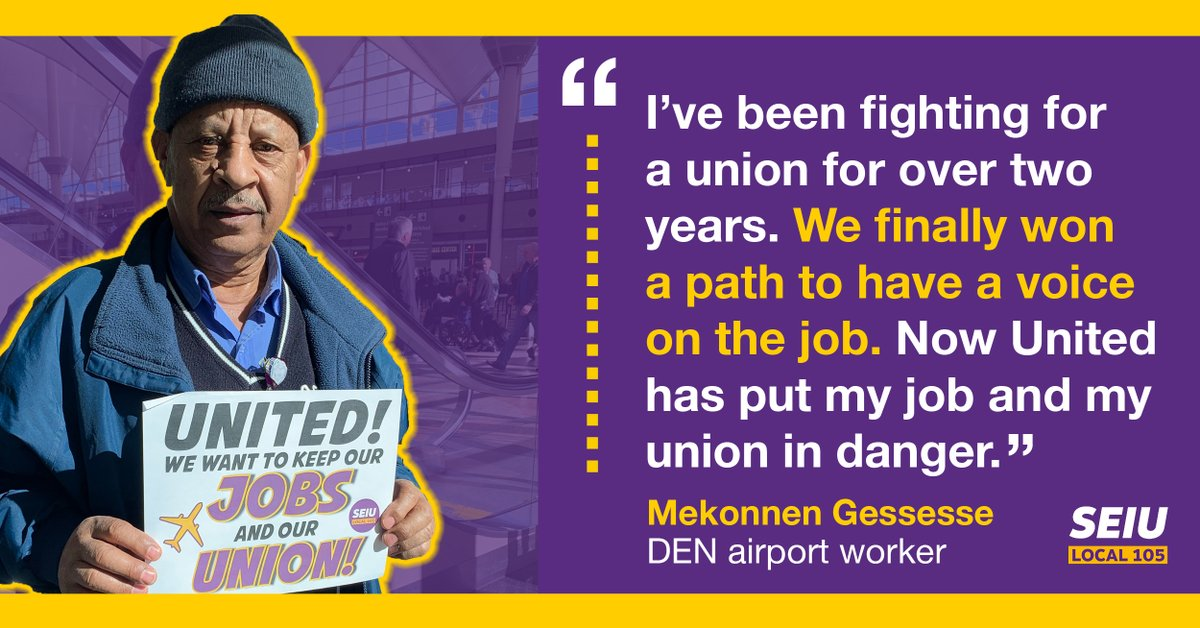 🚨ACTION ALERT: Stand with Denver airport workers fighting for their jobs and their union.   ▶️ Learn more and sign the petition here: http://bit.ly/DENworkersunited …
