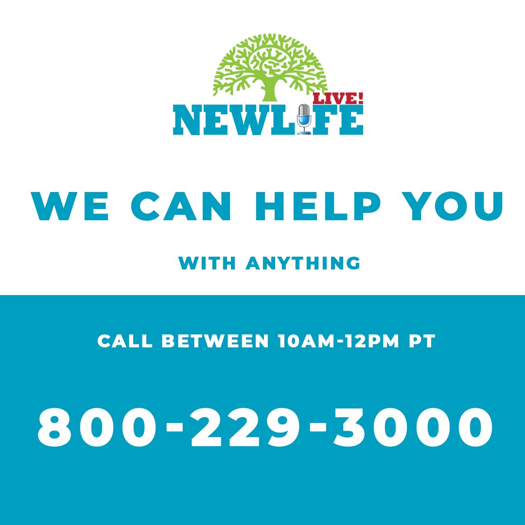 We will be taking YOUR calls today for ONLY two hours!! Becky Brown, Dr. Jill Hubbard, and Dr. Dave Stoop will be answering your questions from 10am - 12pm PT! Call 800-229-3000!  #Counseling #Free #Therapy #Questions #Faith #Happy #Truth #Love #NewLife #NewLifeLive #Ministry