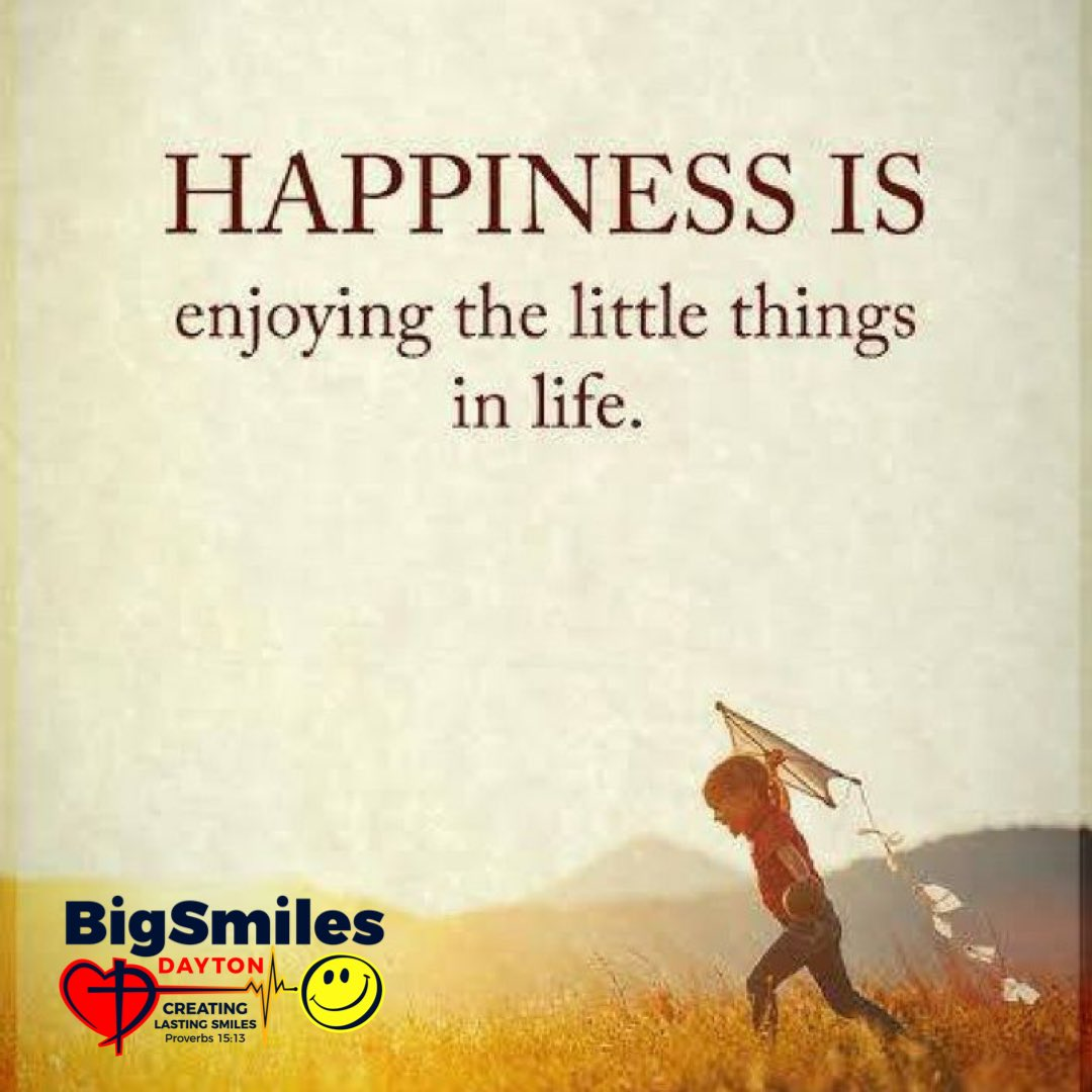 Such a wonderful quote! What's something small that brings joy to your life?  #happy #joy #kids #children #quotes #littlethings #bigsmilesdayton #biggiesmiles #dayton #ohio