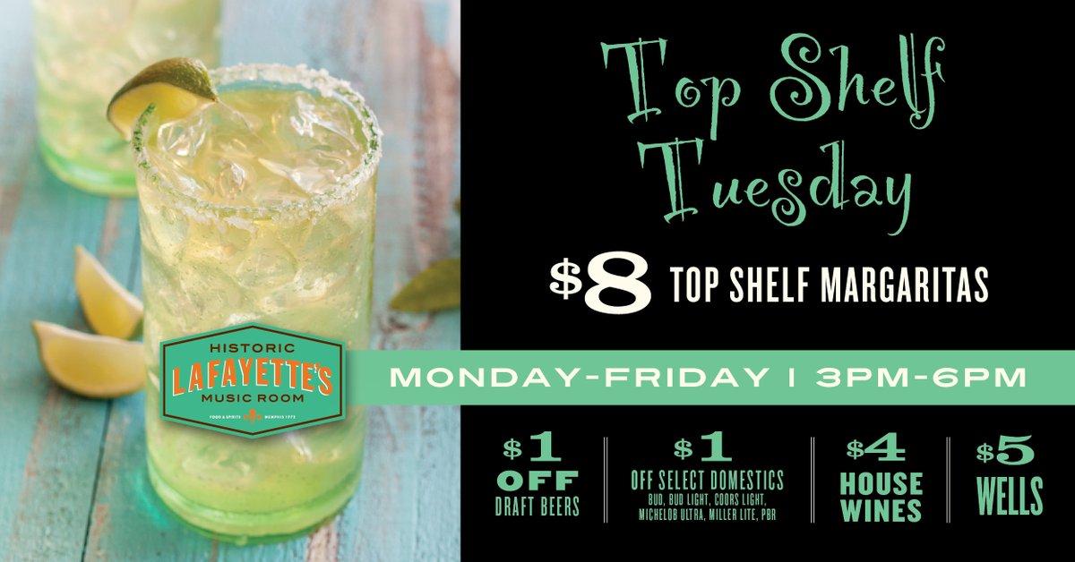 Its Top Shelf Tuesday! #happyhour