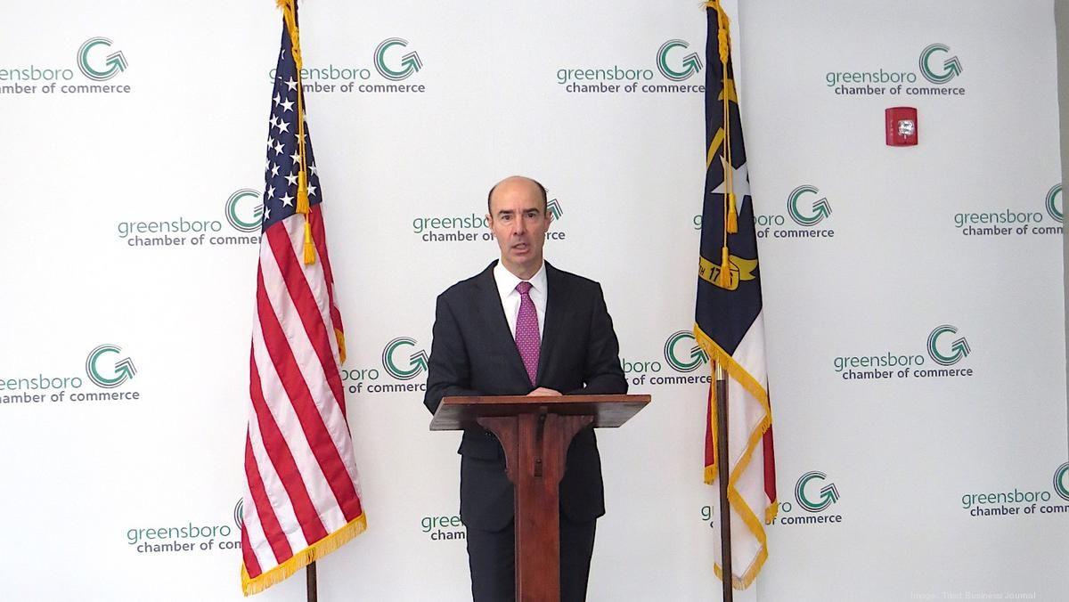 In visit to Egger, #Greensboro, U.S Labor Secretary Eugene Scalia talks #USMCA opportunities, #workforce challenges - http://bizj.us/1q25mh #hiring #jobs #trade #manufacturing @gsochamber @ptpNC