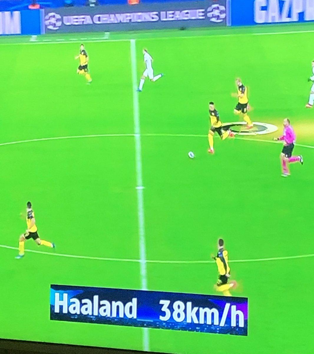 Eivind Skjervum On Twitter Did Haaland Reach A Top Speed Of 38 Km H
