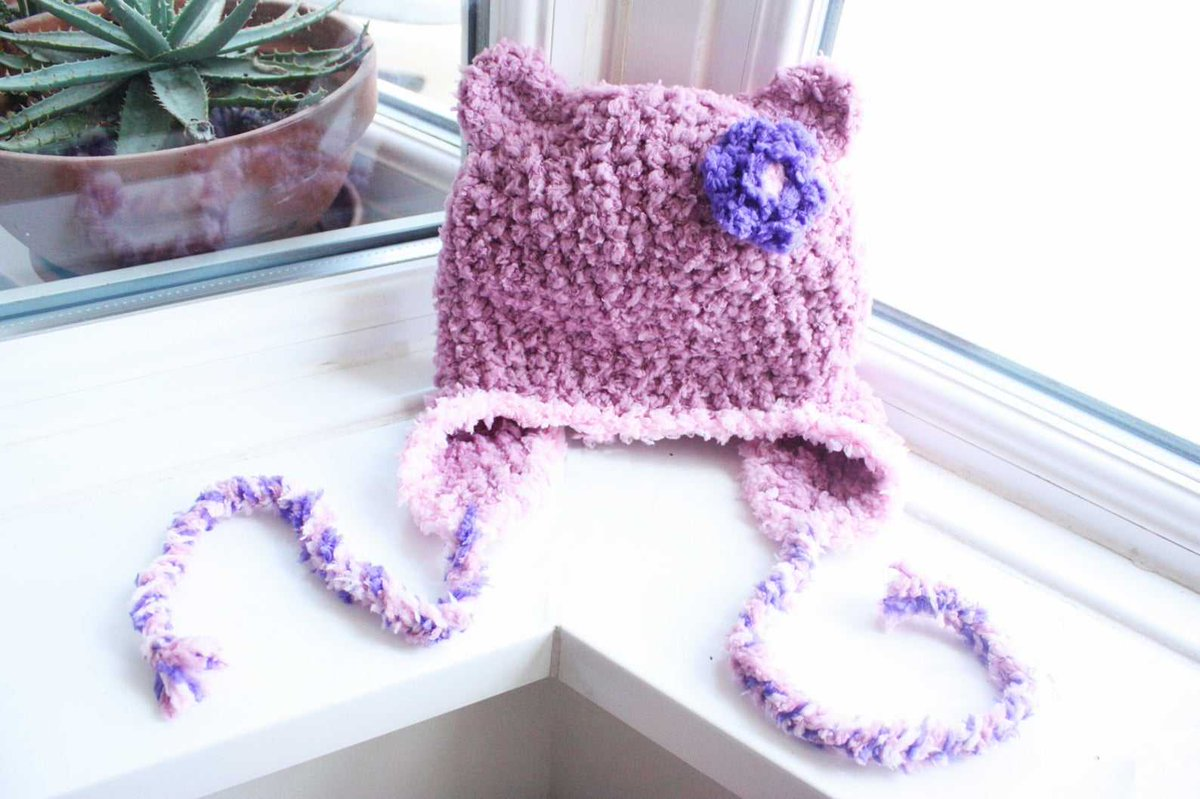 Excited to share this item from my #etsy shop: 0 to 3m Newborn Baby Bear Flower Earflap Hat  *Made To Order - Pre-order Now* #accessories #pink #hat #fashion #newborn #baby #bear