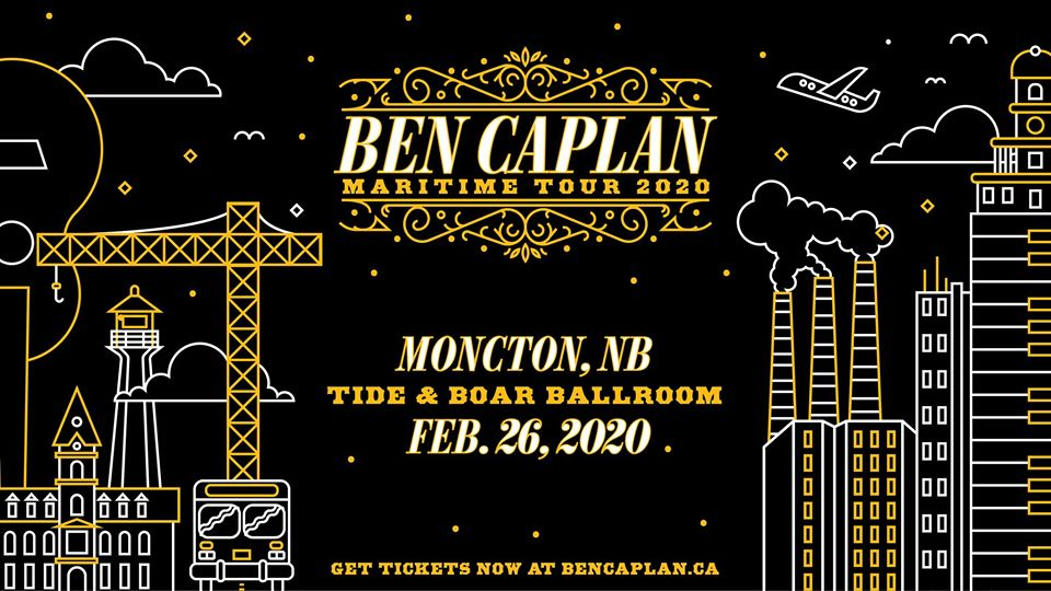🚨 Contest Alert 🚨 You could win a pair of tickets to see @bencaplanmusic in Moncton, New Brunswick with Laurent Bourque (@bourquelaurent) on Feb 26! Enter for a chance to win here: