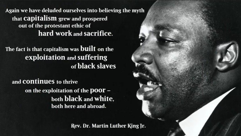 You're a disingenuous piece, indeed. Unless you're calling for the replacement of our cruel, exploitative economic system, get Dr. King's name off your mouth... pic.twitter.com/SvMRKC7kTj
