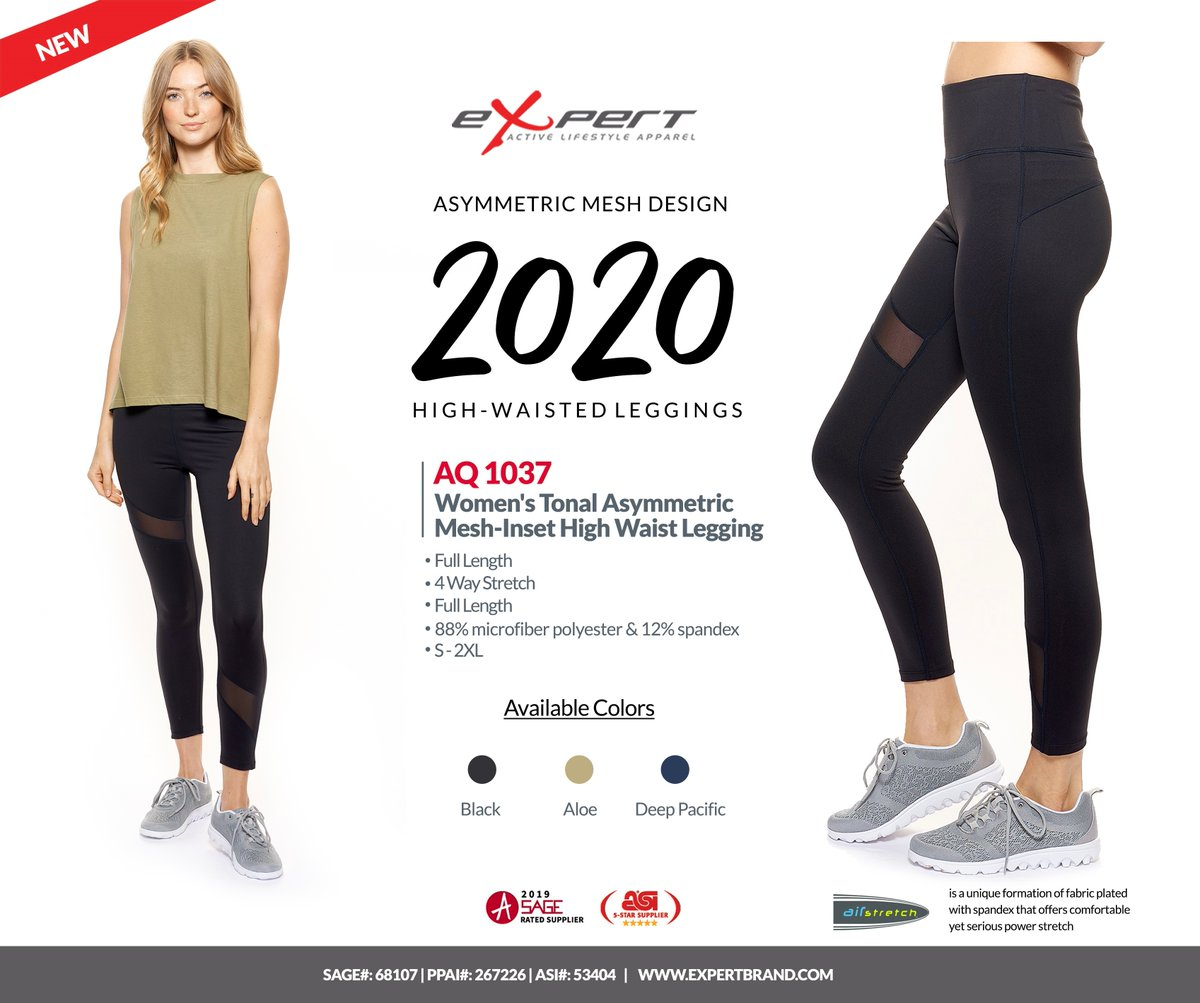 Have you seen 2020 Asymmetric mesh design high-waisted legging? 🧘 Made of 88% microfiber polyester/ 12% spandex.  Pre-order Now:   #Activewear #Legging #Workout #Wholesale #Apparel #Fashion #Yoga #Highwaisted #Preorder #ExpertBrand