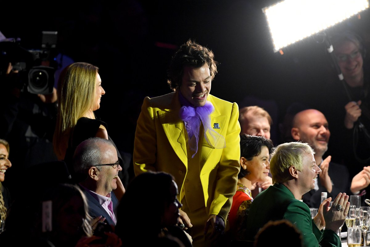 Harry Styles in Marc Jacobs SS20 at the #BRITs.