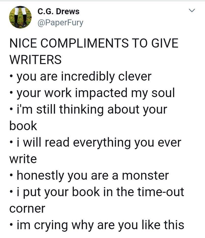 The last three are my favorite  #WritingCommunity #Amwriting #readers<br>http://pic.twitter.com/1kuDIPQ7s6