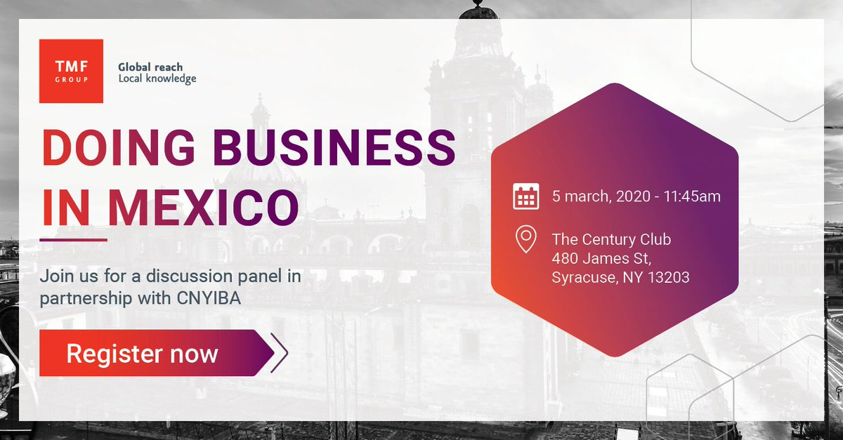 #NewYork, join Monica Vera our Managing Director in #Mexico, alongside our Head of Business Development in North America, Randy Worzala for an in-depth look at doing business in Mexico. http://bit.ly/2SV9HkN #USMCA #CUSMA #NorthAmerica