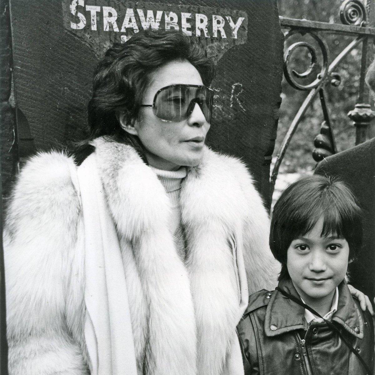 Happy 87th Birthday to Yoko Ono! @yokoono  Visiting Strawberry Field with Sean in 1984. #HappyBirthdayYoko https://t.co/PJvvb8f9wb