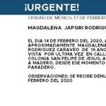 Image for the Tweet beginning: #AlertaAmber: Ayuda a localizar a