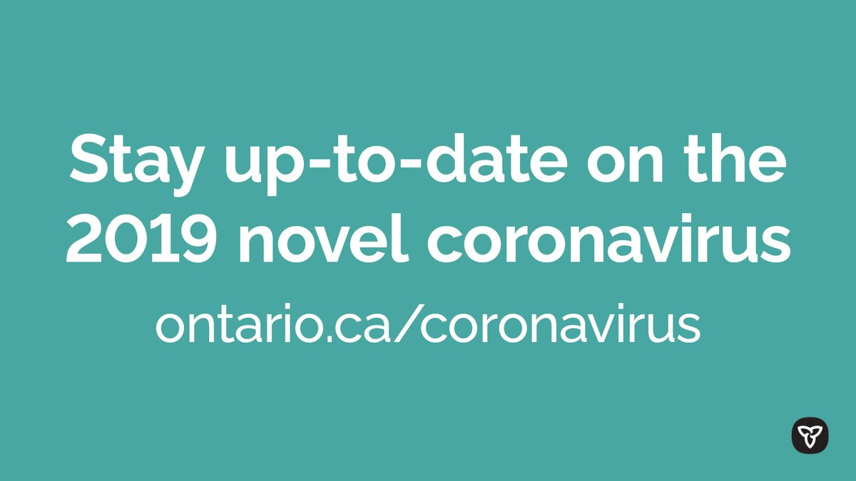 Ontario is closely monitoring the 2019 novel #coronavirus (#COVID19) & liaising with its federal, provincial/territorial partners. Overall risk to Ontarians remains low. Get the most up-to-date info on the status of cases in Ontario and learn more: http://ontario.ca/coronavirus