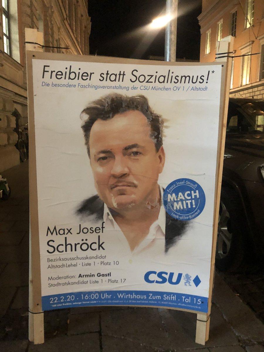und @CSU so: warum auch probleme lösen wenn man stattdessen saufen kann #Muenchen #kommunalwahl2020 pic.twitter.com/N75afGwcER