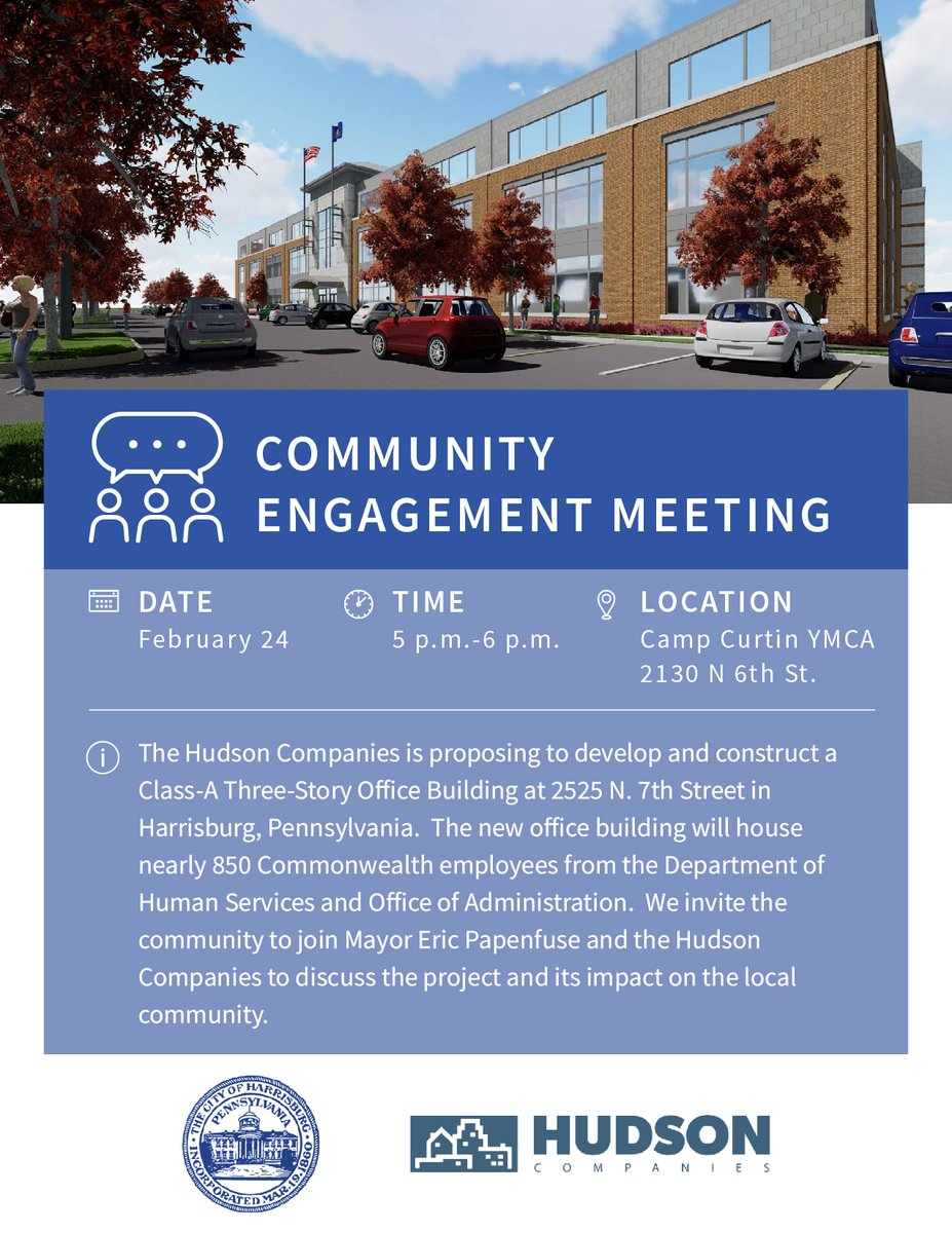 Join us for a community engagement meeting on February 24 from 5-6 p.m. at Camp Curtin YMCA.