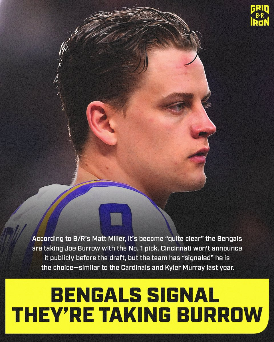 To every media personality that hates the idea of the @Bengals drafting Joe Burrow, deal with it.   #Bengals #WhoDey #LetsRoar #SeizeTheDEY #NewDEY #NFL #NFL100 #BungleForBurrow #NFLPlayoffs #SuperBowl #NFLDraftpic.twitter.com/yREOtBGDba