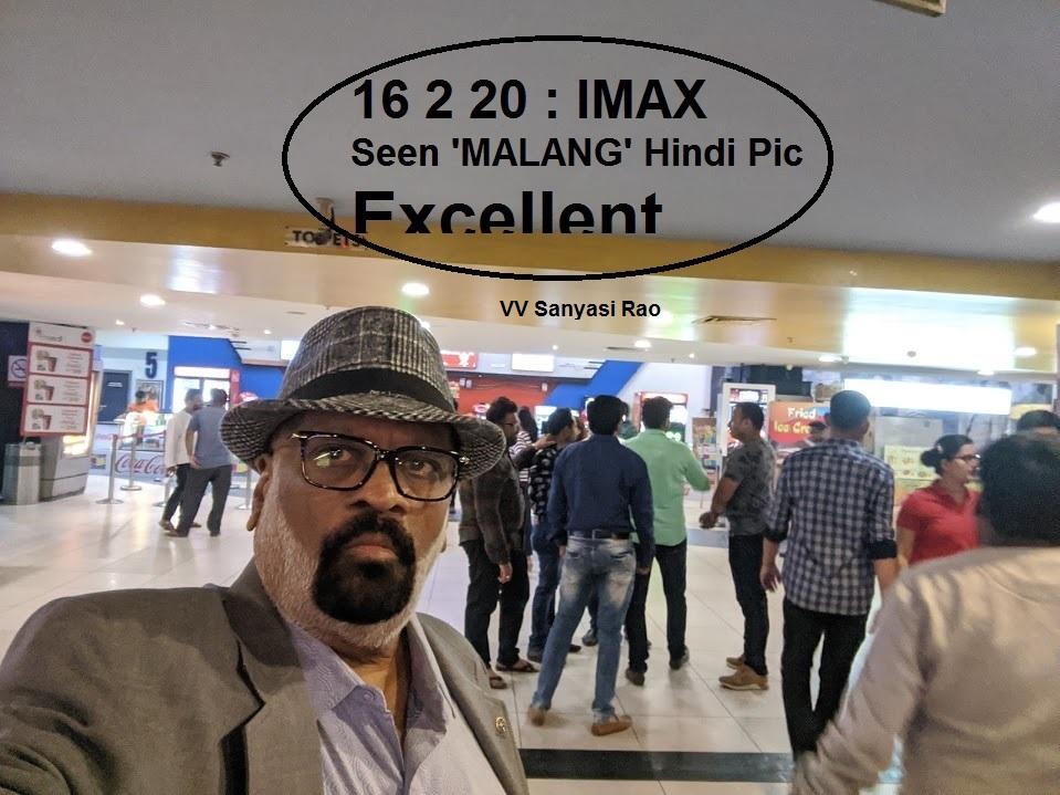 16 2 20: Seen very good picture MALANG (Hindi) at IMAX pic.twitter.com/jCuChWJDQI