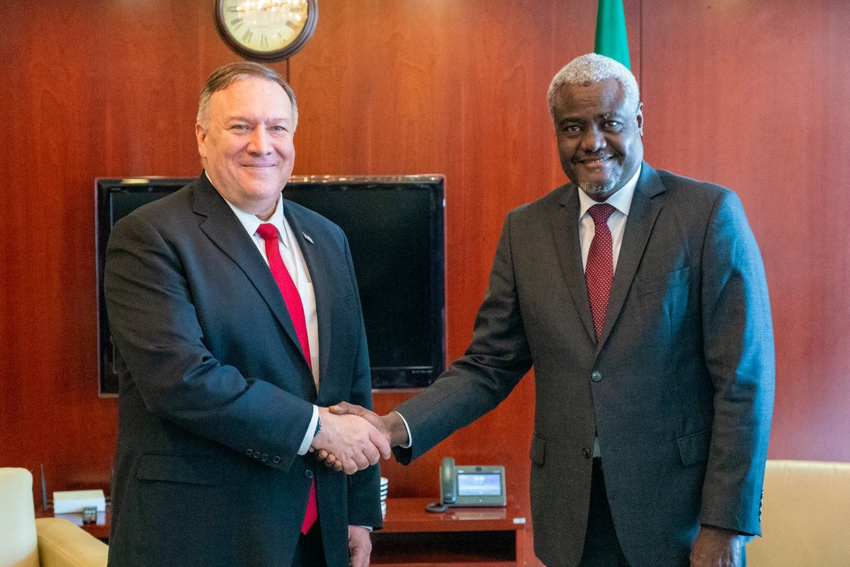 Productive discussion with @AUC_MoussaFaki today in Addis Ababa. I look forward to continuing our engagement with the African Union to address security challenges in the region.