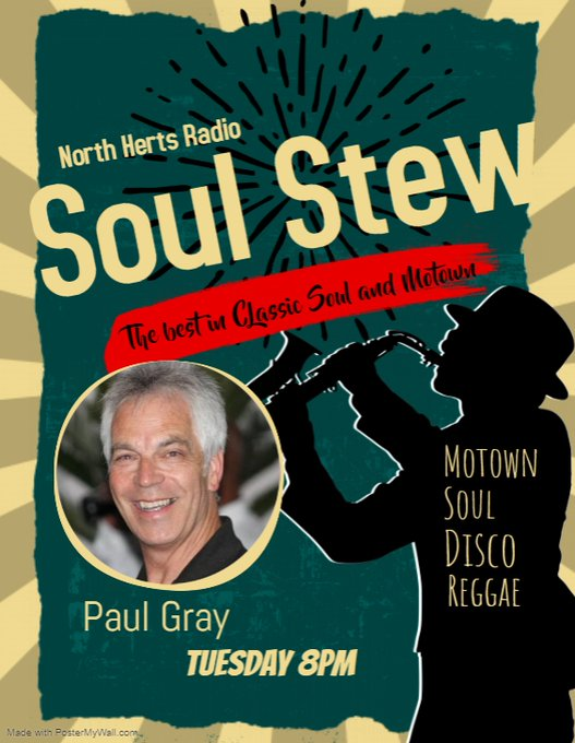 Tonight we make #Hertfordshire  very soulful with North Herts Soul Stew... 8pm @northhertsradio  all brought to you by Flitwick Fisheries with the best in Classic Soul & Motown. #Stevenage  #Hitchin  #Baldock  #Letchworth  #Royston   http://northhertsradio.com