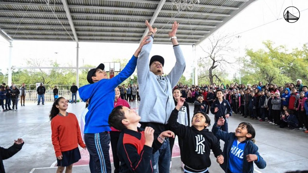 #ThisIsWhyWePlay 💙  @juanonjuan10 spent his All Star break hosting a basketball clinic at a local elementary school in Monterrey, Mexico, where he played for two seasons earlier in his career.