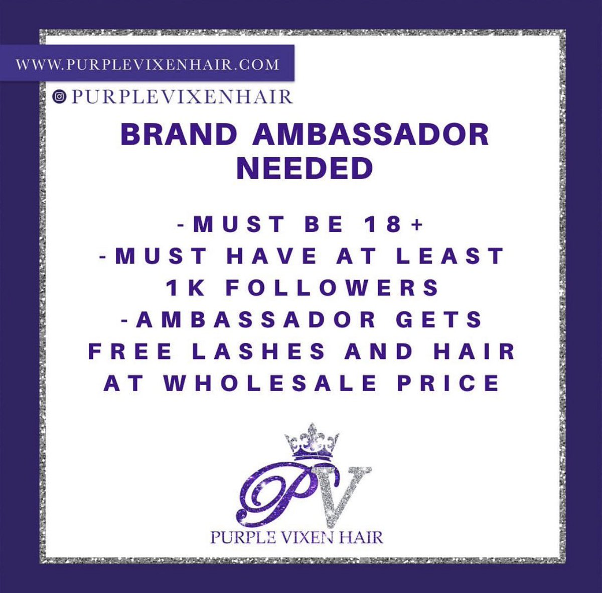 #BrandAmbassador #ambassadorneeded #beauty #fashion #hairextensions #hair #purplevixenhair #InfluencerMarketing #Influencer #wigs #laceclosure #frontal #bundlespic.twitter.com/JJugIELeD2