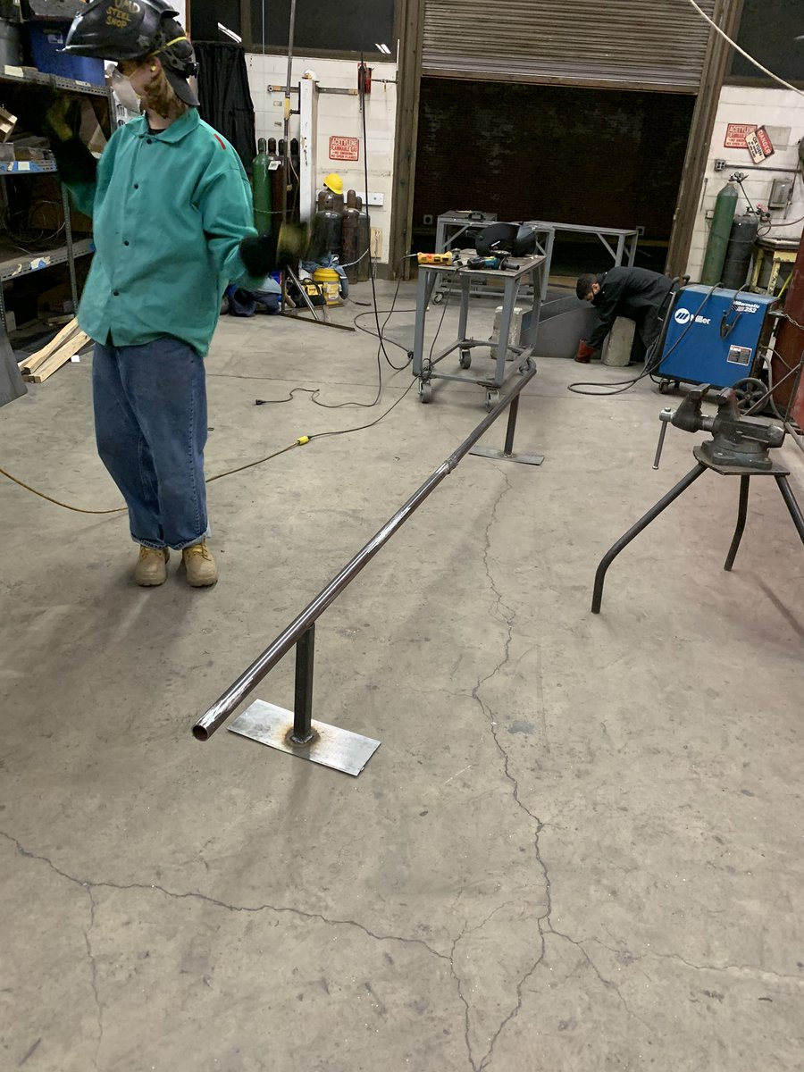 Steel sculpting is quickly becoming the best class I've ever registered for