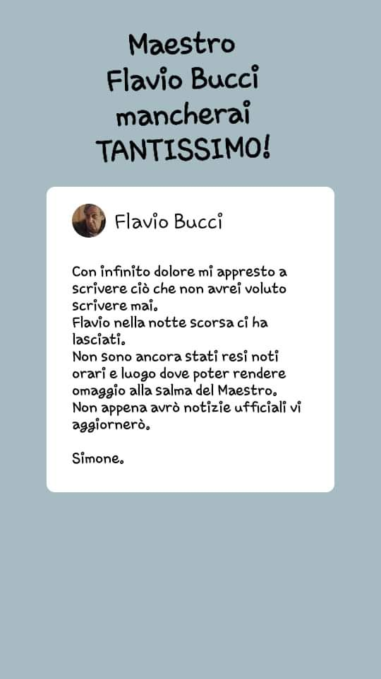 #FlavioBucci