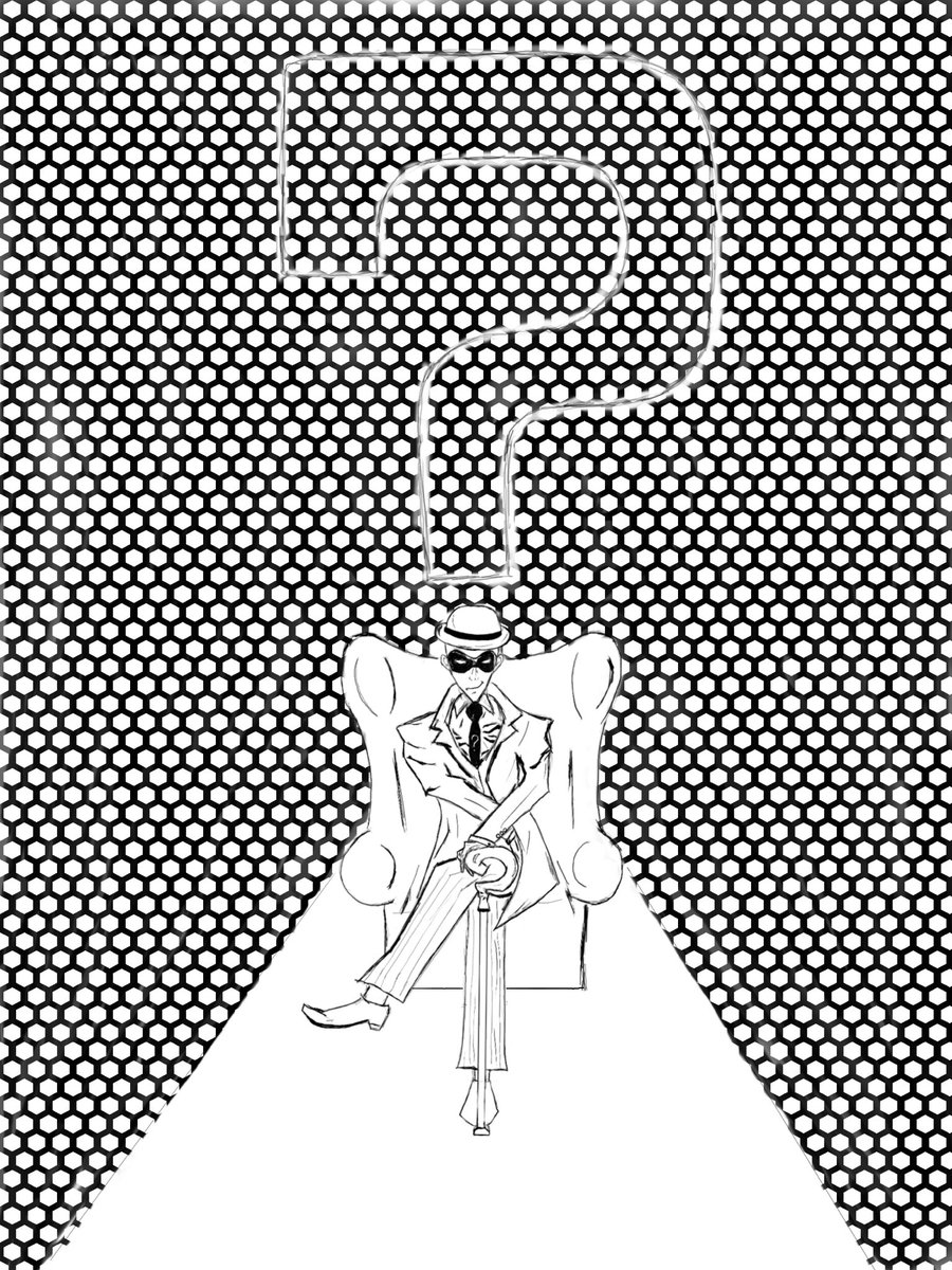 Inktober 2019 - Pattern #inktober #Inktober2019 #dccomics #dcvillains #theriddler #JimCarrey #pauldano pic.twitter.com/dHHX54EaSb