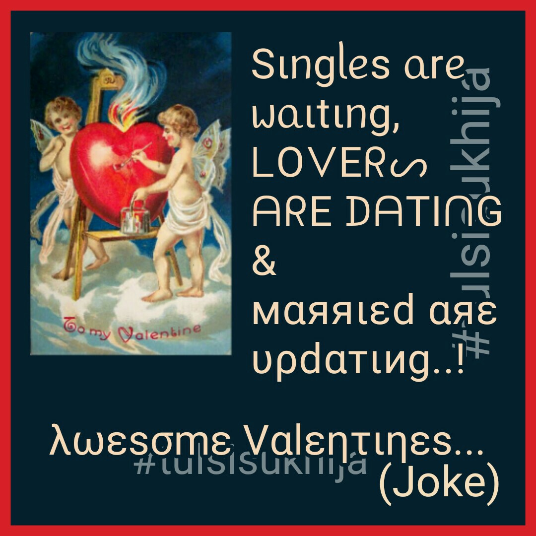 λωεsσmε Vαlεητιηεs Joke #tulsisukhija #bemine #bemyvalentine #chocolate #chocolateday #heart #hug #hugday #kiss #kissday #love #loveyou #promise #promiseday #propose #proposeday #rose #roseday #soulmates #teddy #teddyday #valentine #happyvalentinesday #Wife #Husband #Relationshippic.twitter.com/bJ8esFdaa2