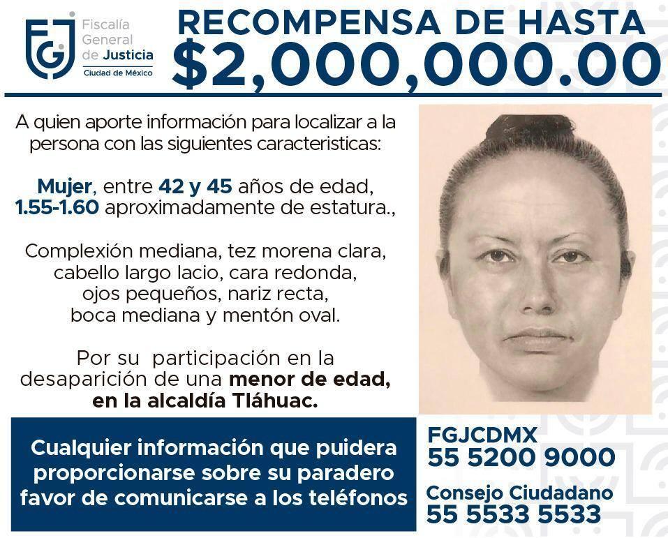 Según versiones la persona a la que pertenece la fotografía del retrato hablado era la señora que vendía papitas afuera de la escuela, este hecho no ha sido confirmado por las autoridades.  http://grupops48.com/2020/02/18/era-la-mujer-que-vendia-papitas-la-que-se-llevo-a-fatima-cecilia/…  #JusticiaParaFatimapic.twitter.com/5X8PBcldR5