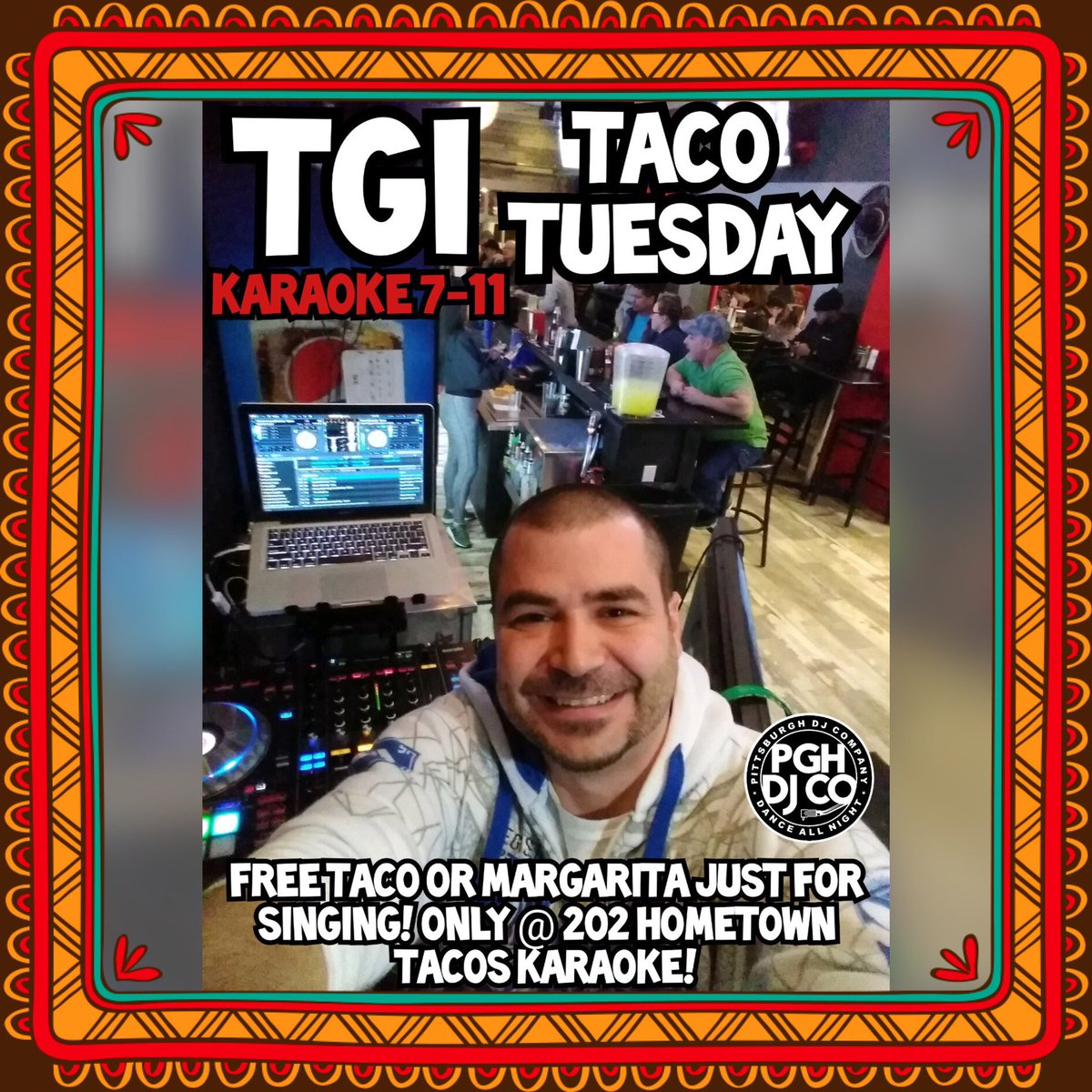 #202hometowntacos is the place to be #tonight for #tacotuesdaykaraoke ! Come sing and get a #freetaco or #freemargarita #DJ Hustle and Pittsburgh DJ Co! #pittsburghdj #pittsburghkaraoke #pittsburghtacospic.twitter.com/2oKCjPpfrI – at 202 Hometown Tacos
