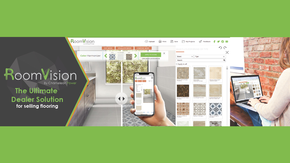 RoomVision – The Ulitmate Dealer Solution for Selling Flooring. #ChameleonPower #RoomVision #visualscience #envisionyourvision #visualize #flooring https://t.co/L7DlhR0xYI